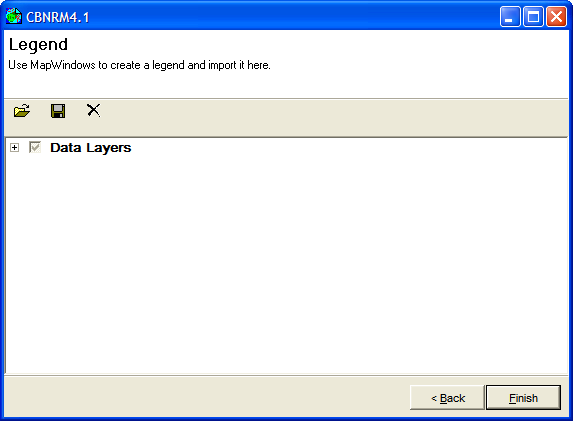 Figure 16: The Legend page after loading the ZamWeaver MapWindow GIS project for a legend.