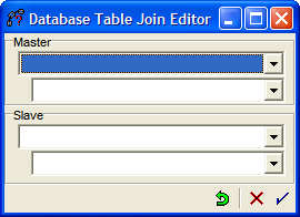 Figure 7: The database table join editor.